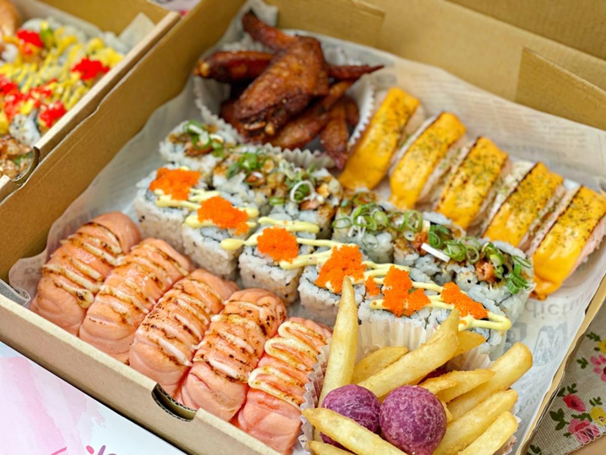浮誇外帶美食再+1!「美式壽司」超值組合1次吃6種口味,先嗑季節限定芒果炸蝦