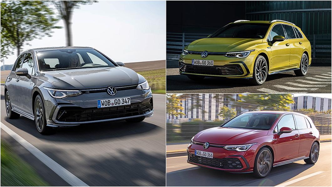 8代Volkswagen Golf全車系編成曝光。(圖片來源/ Volkswagen) Golf全車系配備編成曝光 數位儀表與無線充電全面標配7月1日上市