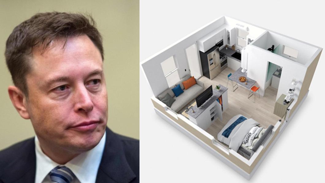 Musk位於德州的住處是僅有11坪大的組合屋。(圖片來源/ Shutterstock達志影像、Boxabl) 馬斯克賣光房子後居然住這裡? 身價上兆台幣蝸居11坪組合屋