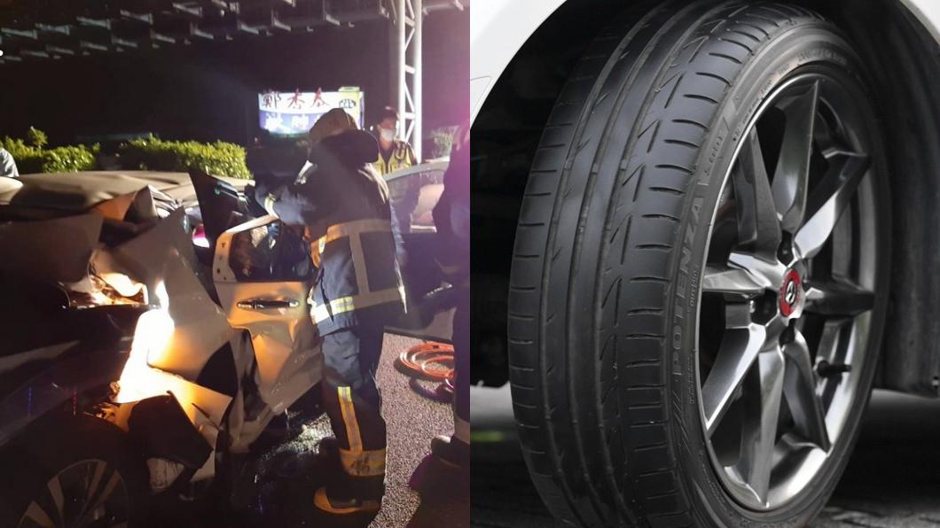 平時要做好輪胎的檢查與保養才不會因為爆胎導致嚴重事故。(圖片來源/ TVBS) 國道爆胎停內側遭追撞釀2死 面對爆胎這樣做保一命!