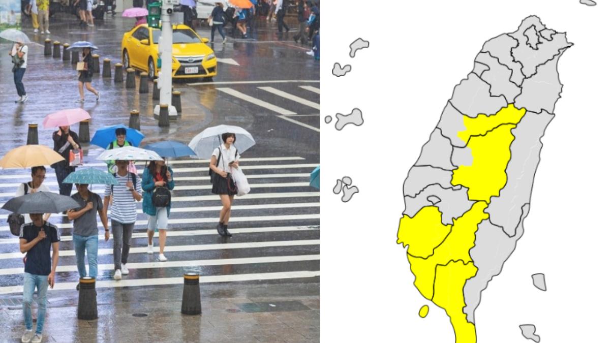 雨神眷顧!氣象局發布「5縣市大雨特報」,花蓮、台東36度以上「高溫警報」