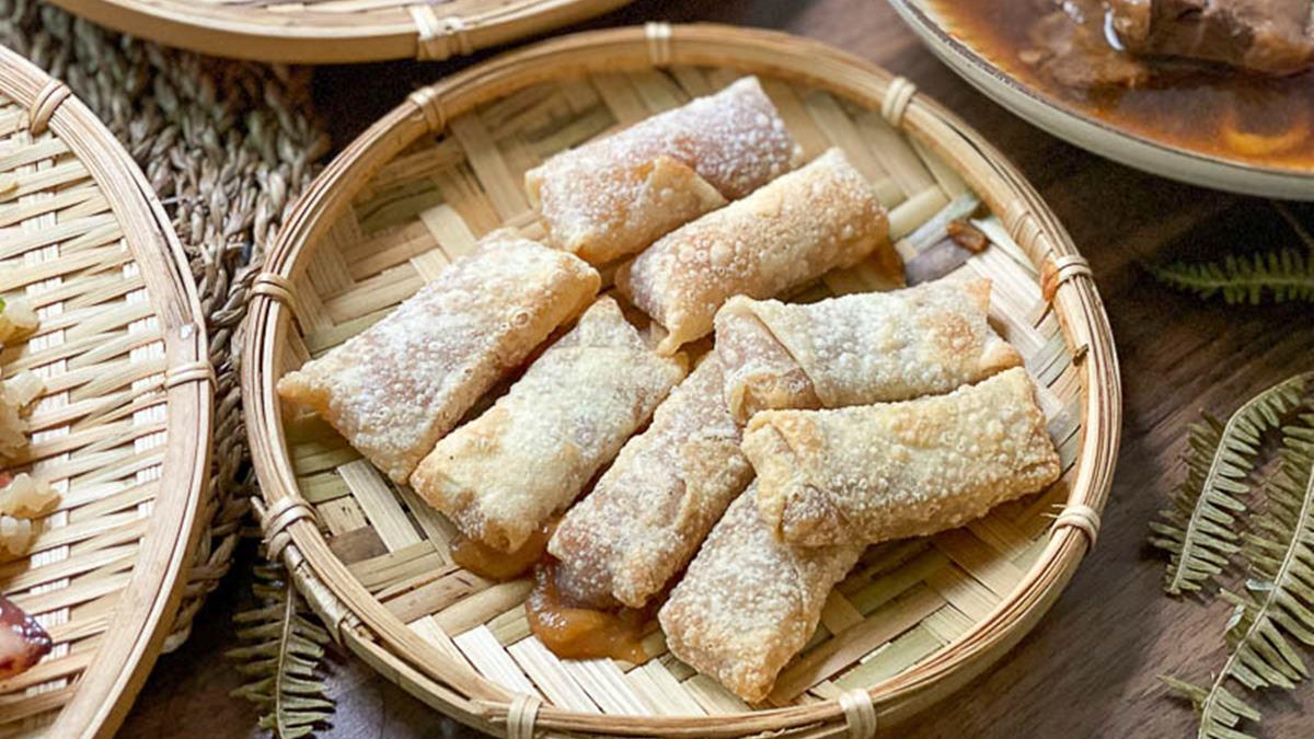 手路菜輕鬆上桌!懷舊茶館「古早味防疫包」加熱就能吃,先嗑小蘋果芋泥包、海味肉燥麵