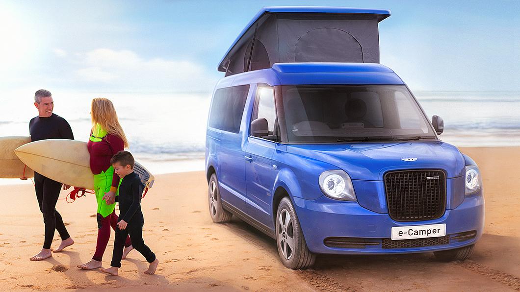 負責生產黑帽子計程車的LEVC預告推出e-Camper電動露營車。(圖片來源/ LEVC) 在倫敦計程車上露營? 電動黑帽子掀頂露營車要賣臺幣240萬