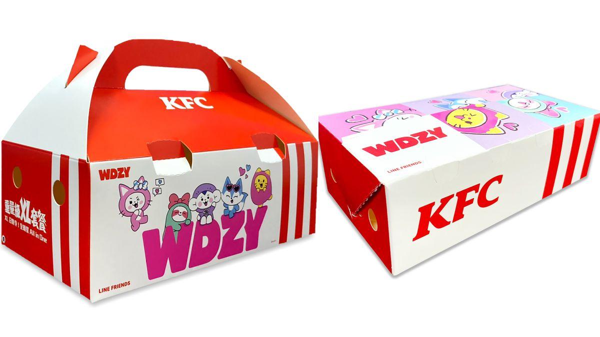 MIDZY們出動!肯德基首度推「WDZY專屬包裝」,只要購買「重量級XL套餐」就有