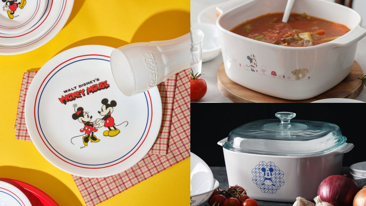 迪士尼控快手刀下單!康寧推「米奇、米妮」餐具43折,青花彩米奇4件組1000元有找