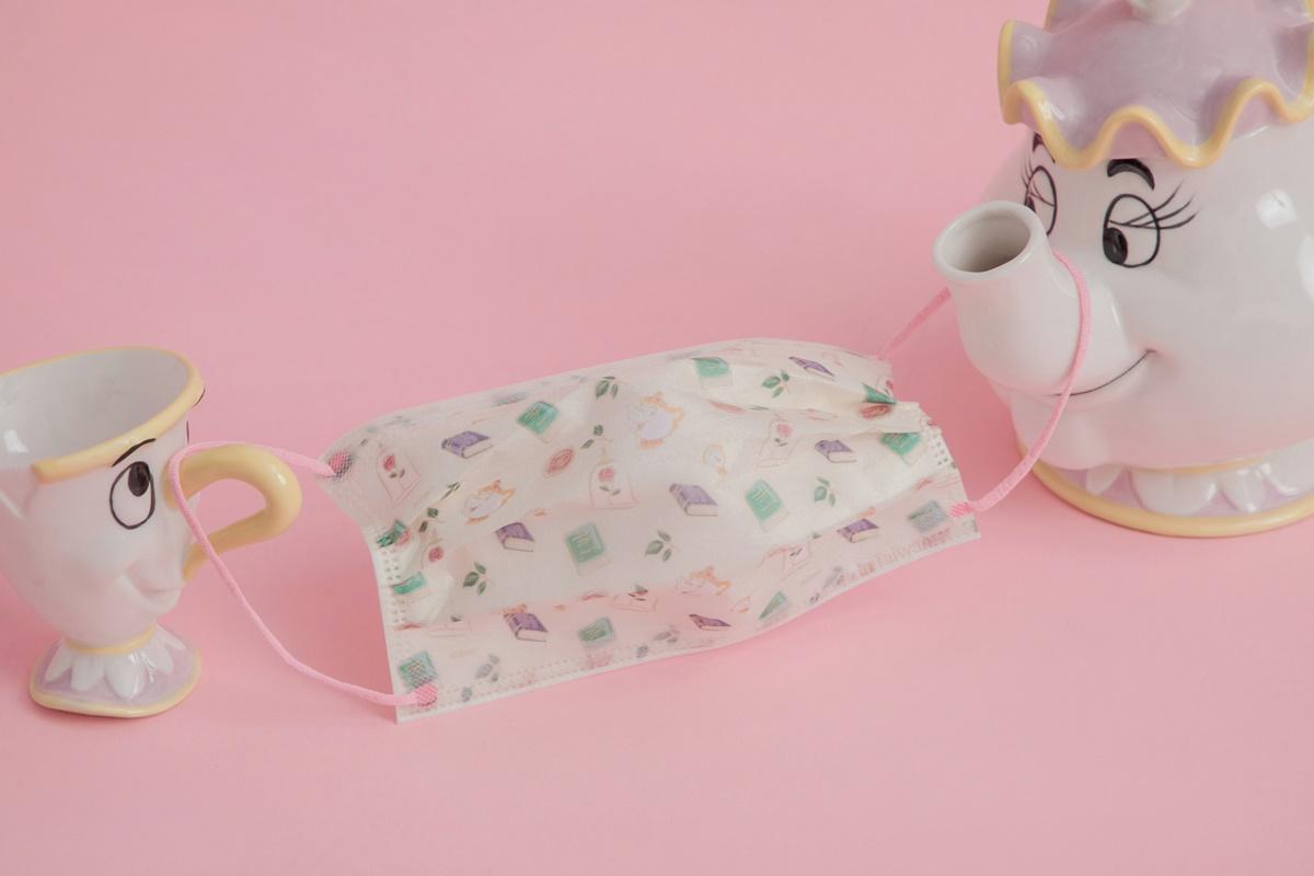 迪士尼公主口罩首發!美女與野獸「茶壺媽媽+小孩阿奇杯」超粉嫩,特價省100元快收