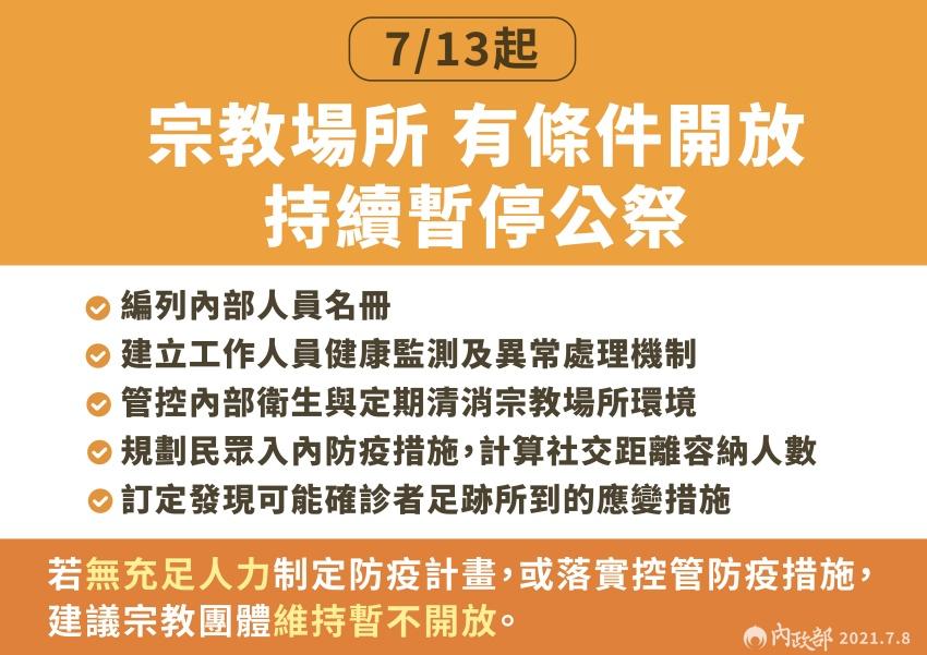 三級警戒延長到7/26 夜市、餐廳、電影院、健身房、遊樂園有條件鬆綁