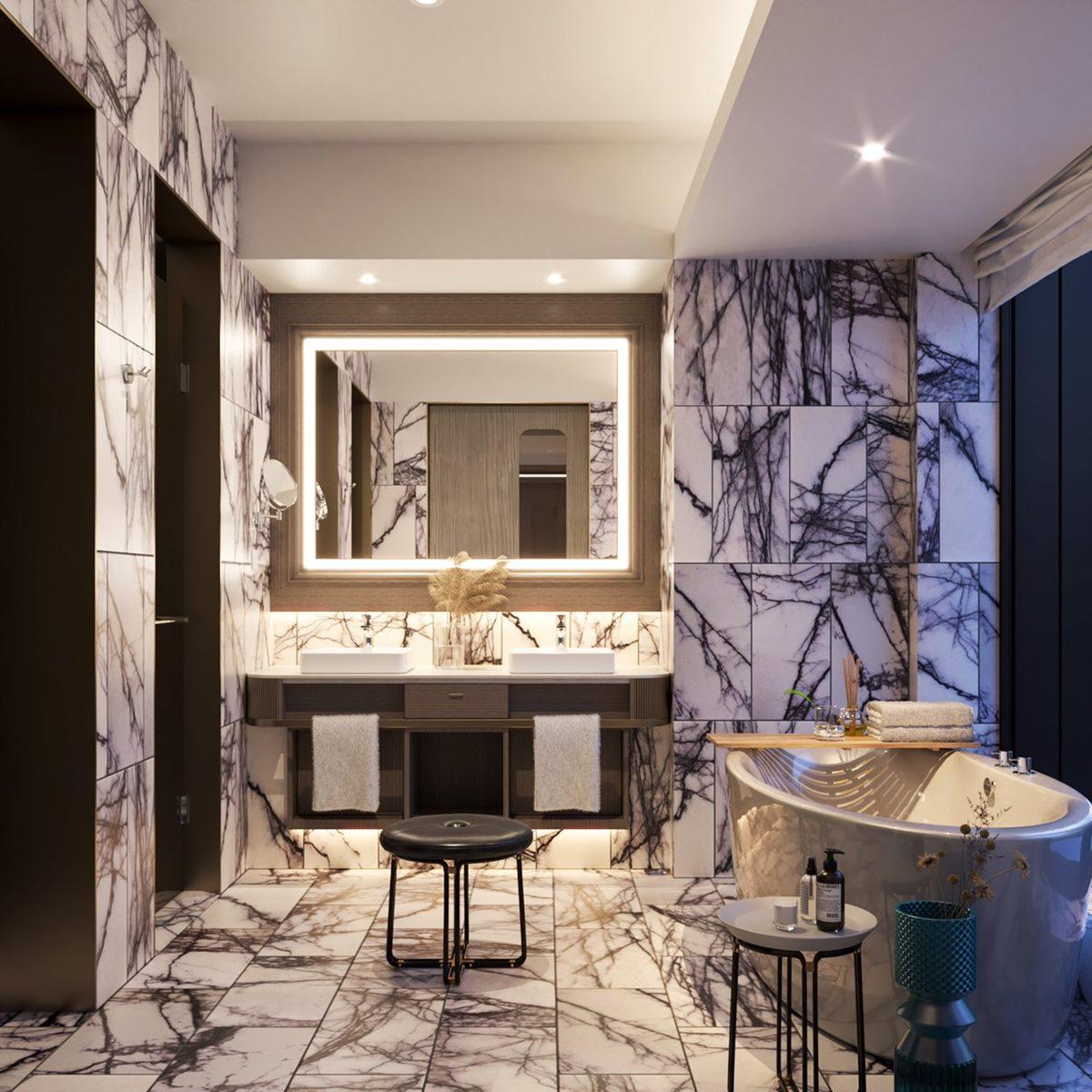 【新開店】最新打卡飯店「高雄洲際酒店」,躺床看整排地標、海洋設計房間到餐廳都能拍
