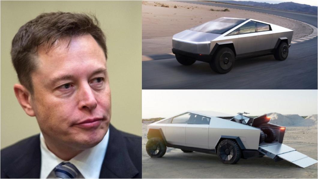 Cybertruck遭質疑會失敗,Musk霸氣回覆。(圖片來源/ Shutterstock達志影像、Tesla) 認了Cybertruck可能失敗? 馬斯克霸氣回應:不過我才不在乎