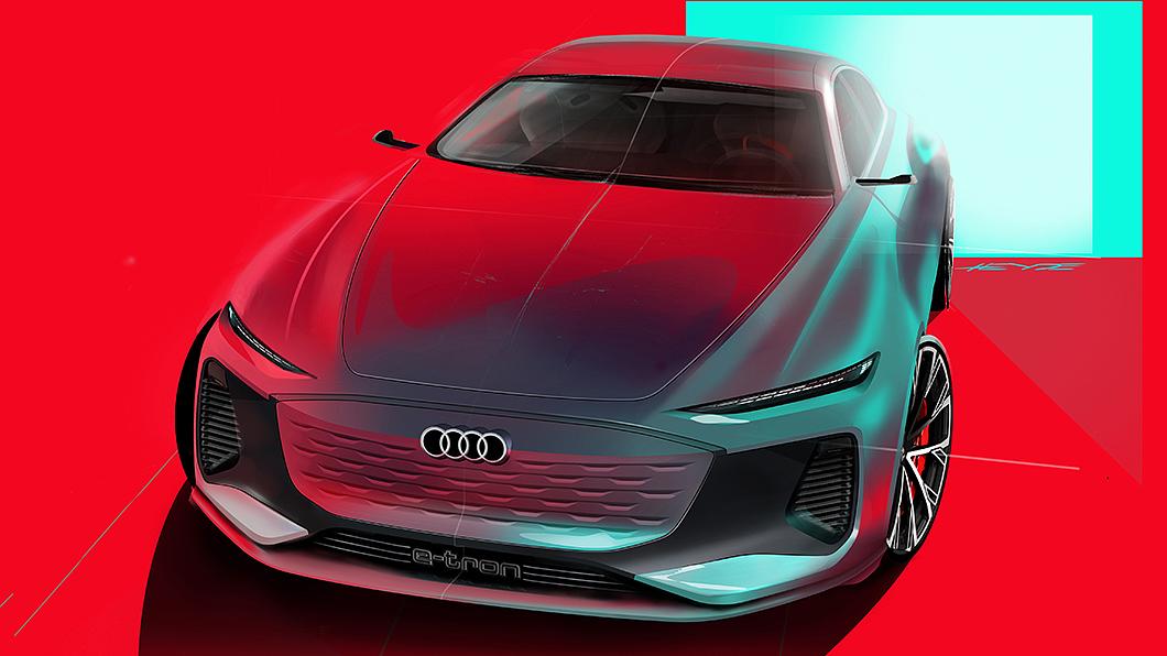 雖然電動車對於水箱護罩需求不高,Audi未來仍會保留招牌的單體盾形水箱護罩。(圖片來源/ Audi) 休旅改電動超跑也改電動 Audi:我的盾形大嘴不會動!