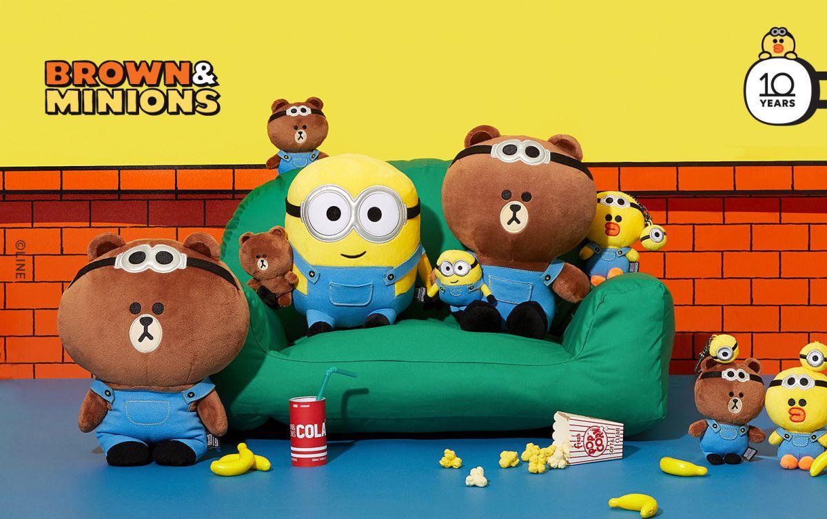 LINE FRIENDS X 小小兵聯手賣萌!熊大、莎莉換上吊帶褲,推Airpods殼、折疊椅、置物籃