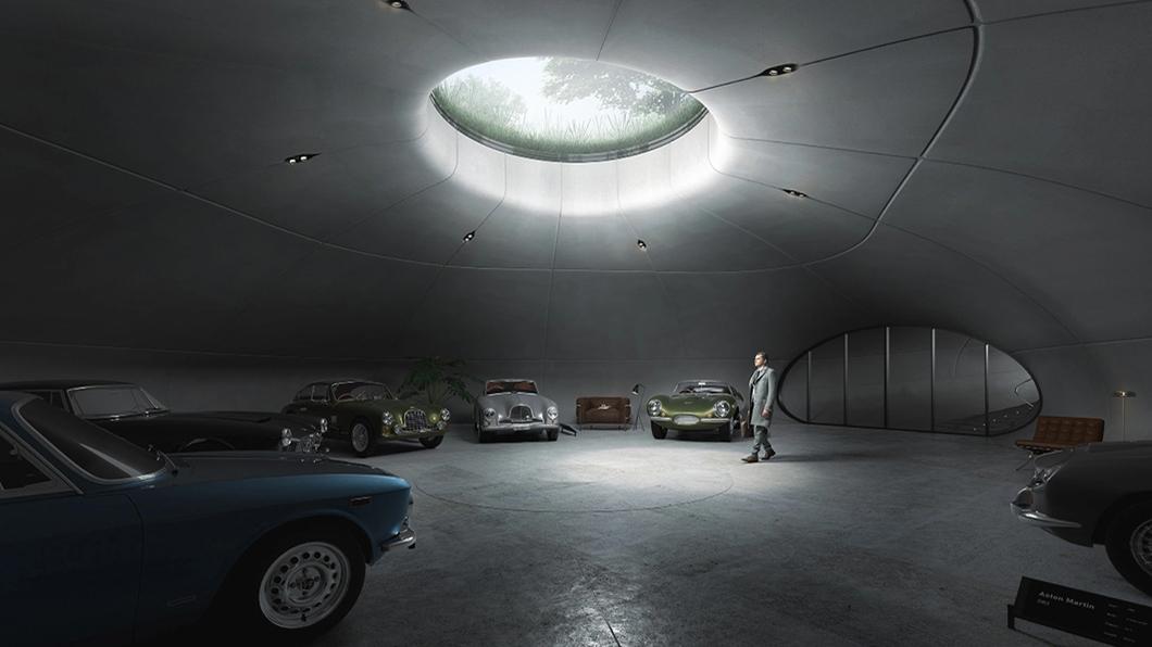 深入地下達6.8m深的夢幻車庫,規劃八輛古董車停放空間,設計靈感則來自007電影。(圖片來源/ Arup) 馬汀藏家私人車庫長怎樣? 夢幻豪奢毀三觀!網嘆:根本博物館等級