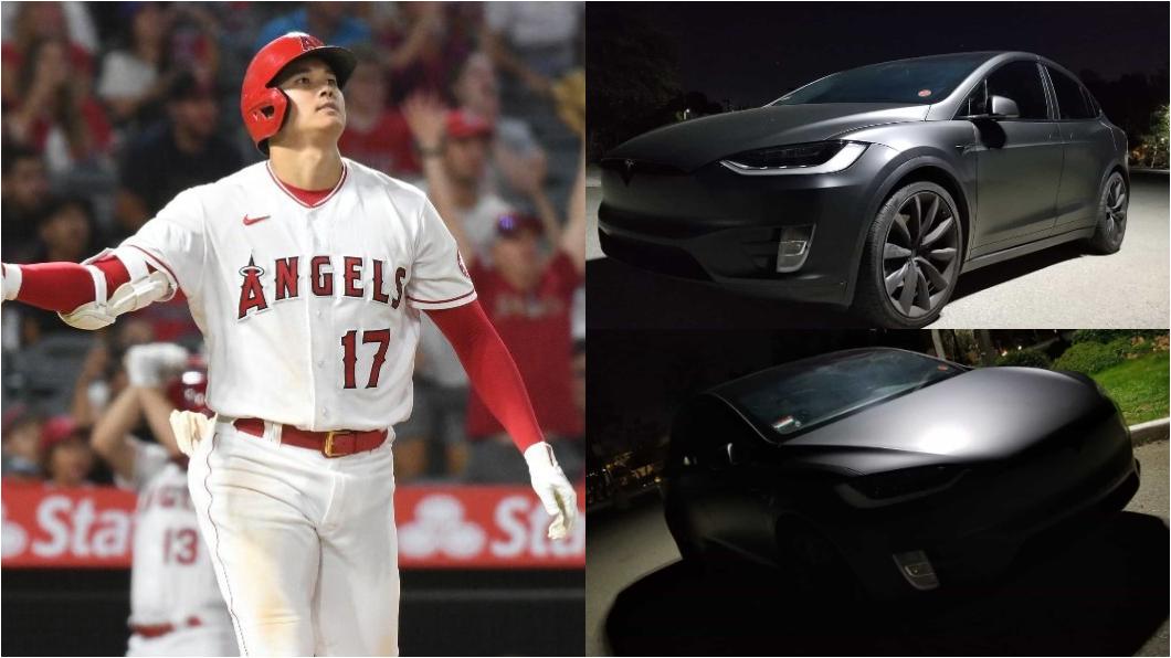 日籍大聯盟球星大谷翔平的愛駒是Tesla Model X。(圖片來源/ 美聯社、Daley Visual臉書) 大聯盟史上第一人大谷翔平幾歲考駕照? 選車又讓馬斯克爽賺免費代言