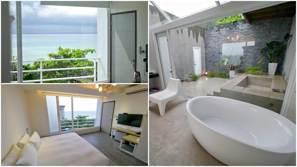 IG暴紅打卡民宿!躺床上就能遠眺「無遮蔽海景」,水水必拍超Chill「玻璃屋雙浴缸」