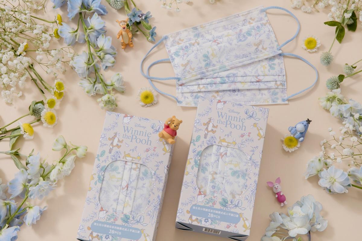小熊維尼「花園口罩+仙境藍耳繩」太美!迪士尼初秋新品8/18開賣,跳跳虎、小豬都出沒