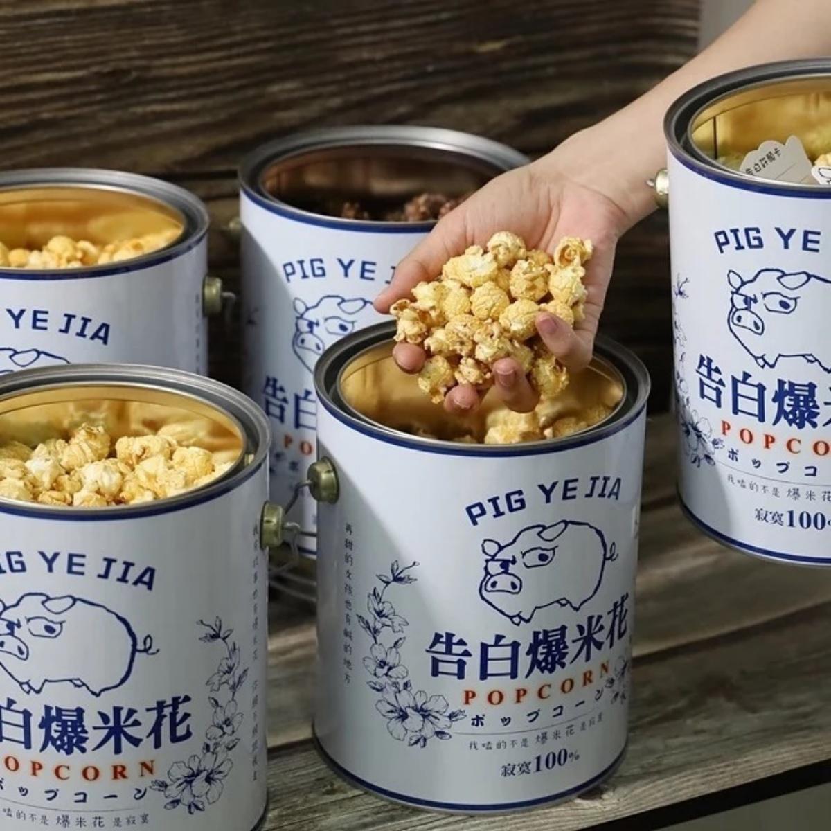 全台唯一「告白爆米花」!油漆桶+飼料袋太吸睛,「鹽酥雞、巧克力」口味必吃