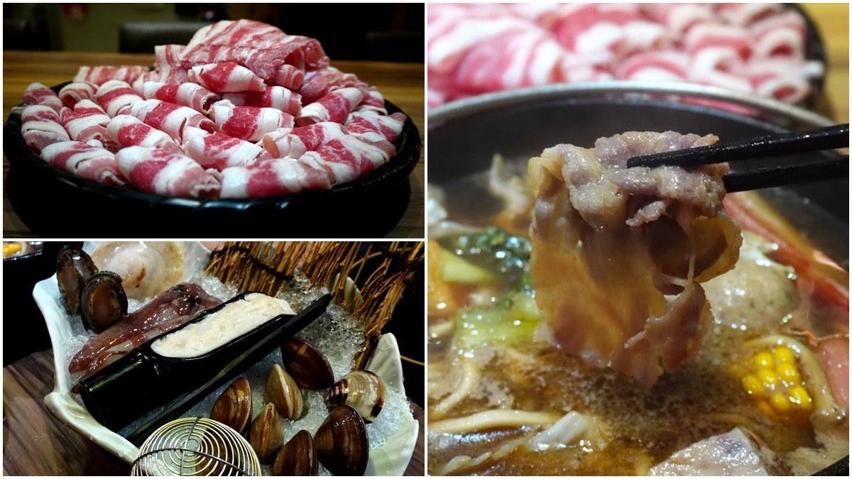 肉控快衝!超澎派獨享鍋爽嗑整座「手切肉片山」,豪華海鮮盤吃得到九孔鮑、鮮嫩干貝