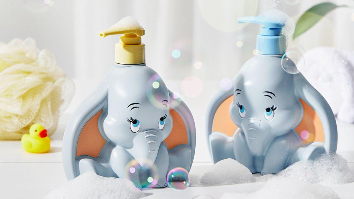 和小寶貝一起療癒!BEYOND X 迪士尼推「小飛象立體香氛洗沐組合」,再送潔顏髮帶、提袋