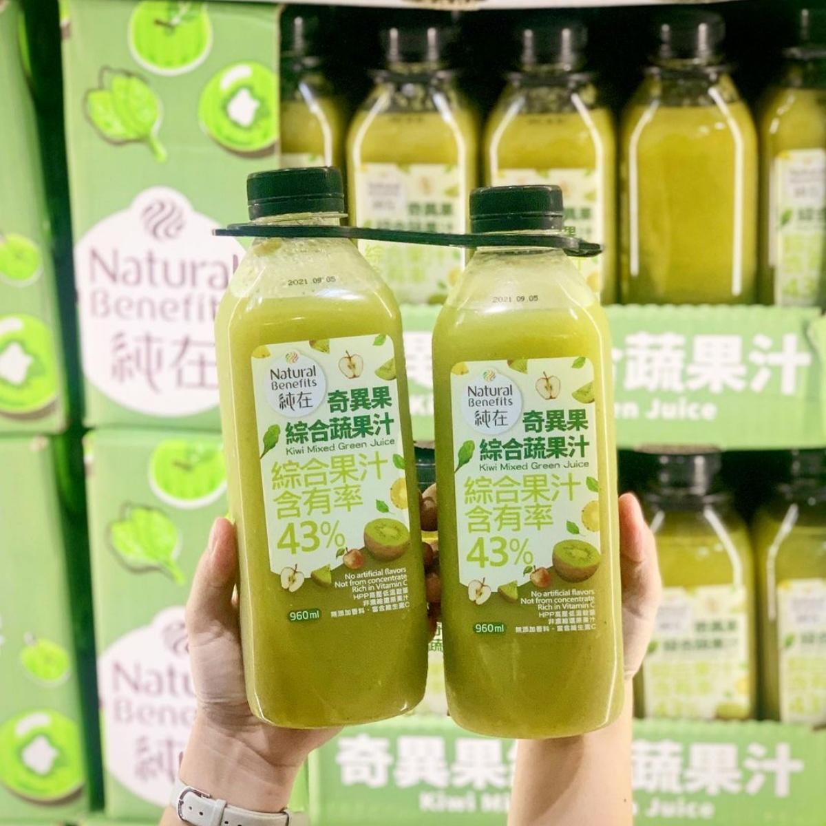 好市多新爆品「奇異果綜合蔬果汁」!43%果汁含量、4種蔬果一次補足