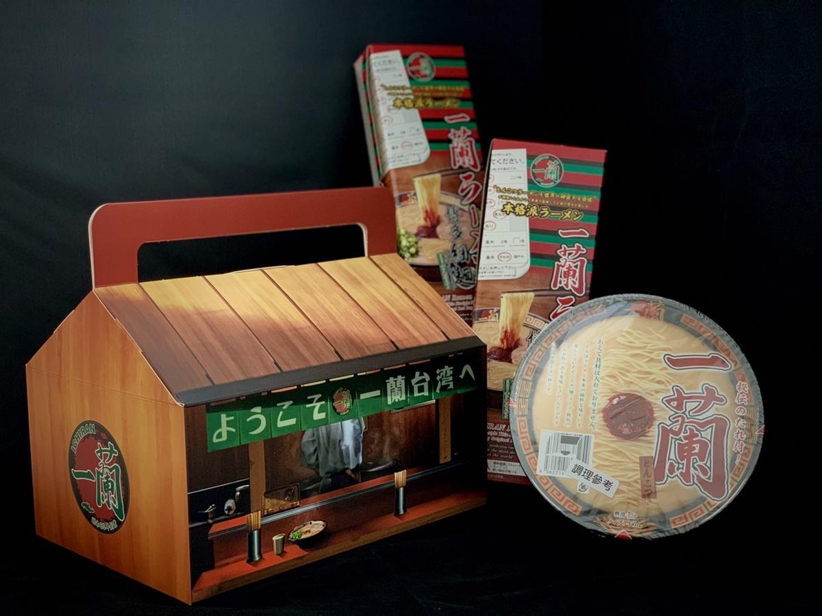 一蘭創始店造型超有哏!台灣獨家「一蘭拉麵中秋禮盒」開賣,豚骨泡麵+博多細麵set大滿足