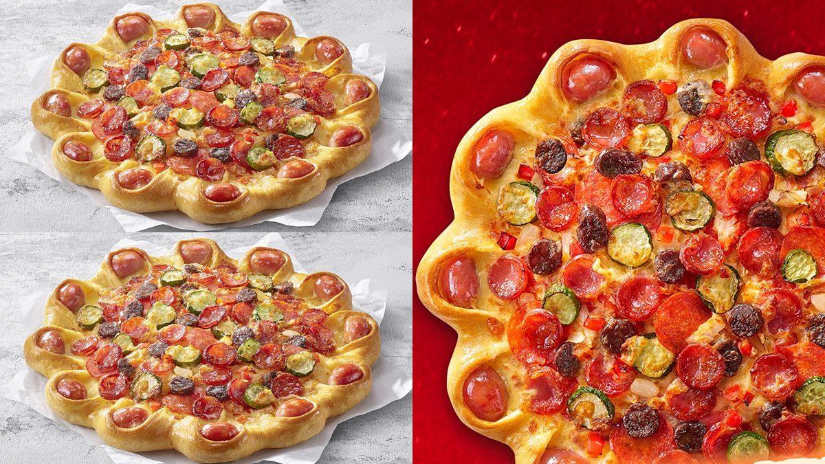 必勝客最新「烤香腸披薩」!爽吃整圈黑橋牌香腸,升級版吐司夾肉、柚子甜點65元起