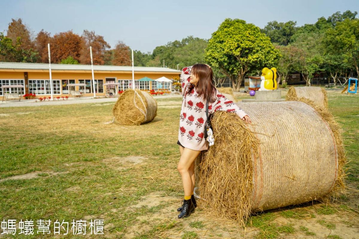 只要50元嗨整天!雲林全新「鹿營親子農場」:餵梅花鹿、拍巨大稻草捲、玩滑草
