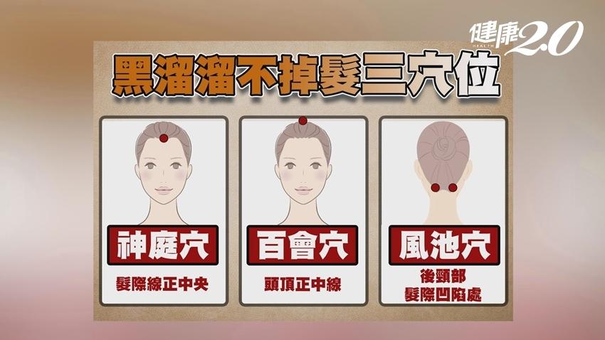 又長白頭髮了該怎麼辦?中醫師授3穴位助白髮變黑髮