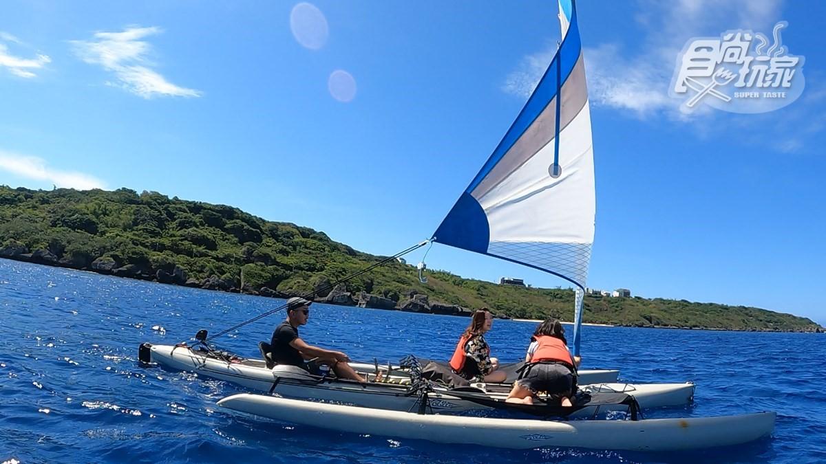 全台唯一!「風帆獨木舟」海上漫遊免划槳,還能「祕境浮潛」賞珊瑚礁、綠蠵龜