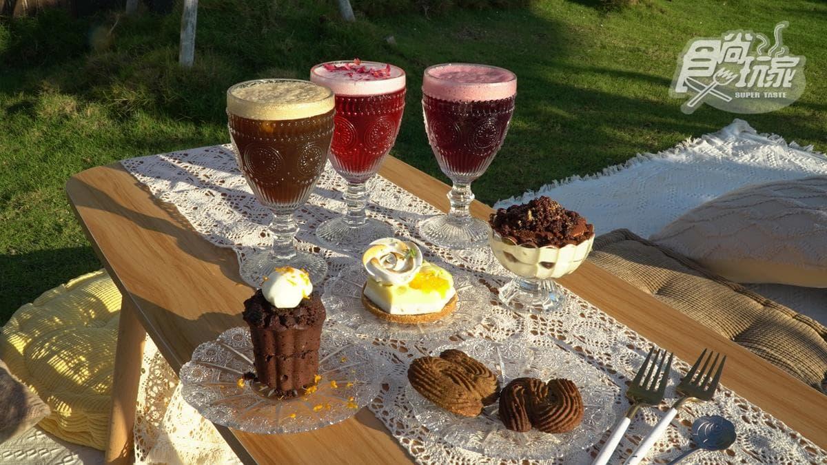 波西米亞風甜點店!打卡必拍純白流蘇吊床,先嘗青花椒香提拉米蘇、花果風味高粱調酒