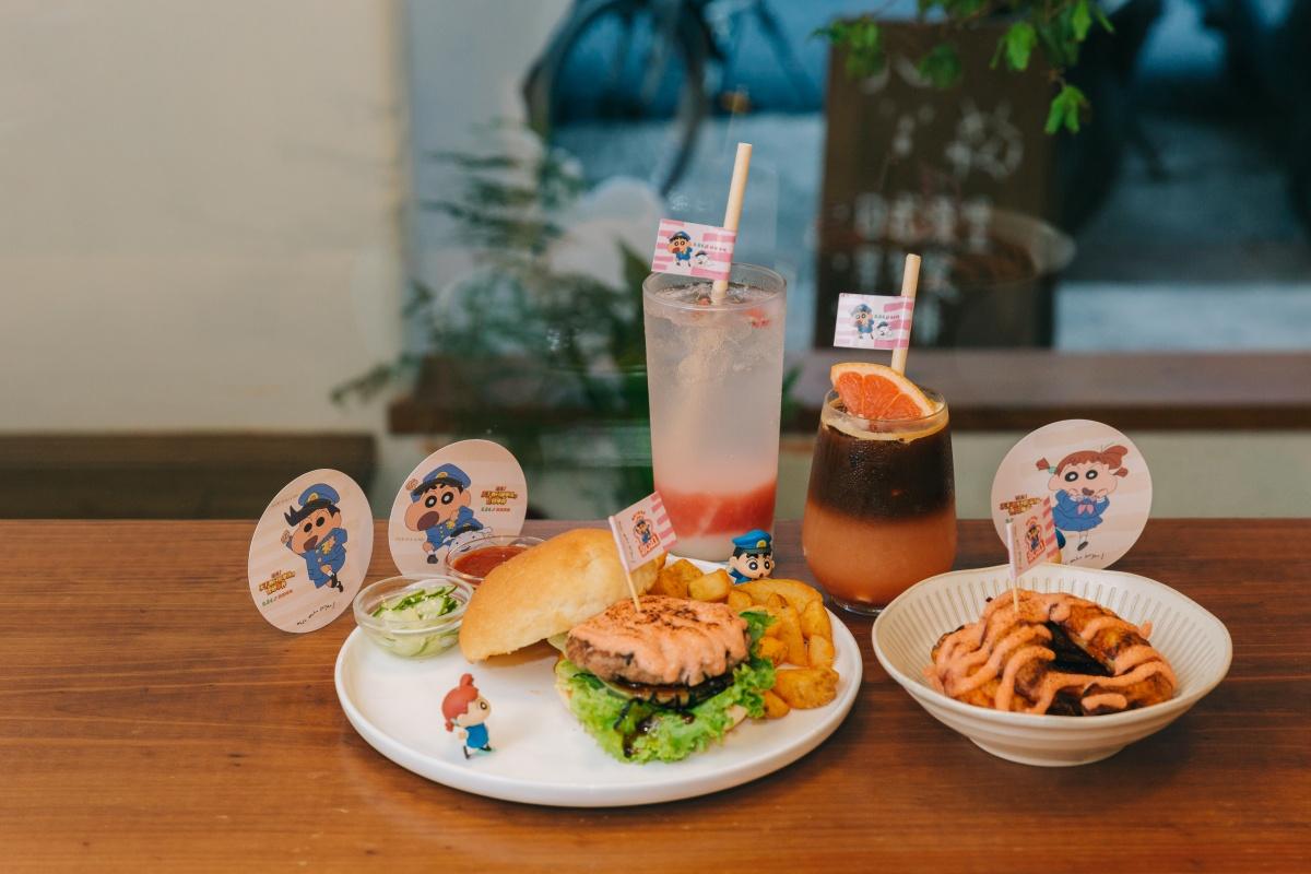 電影票免費送!waku waku burger推4款「蠟筆小新餐點」,小新、妮妮杯墊太Q