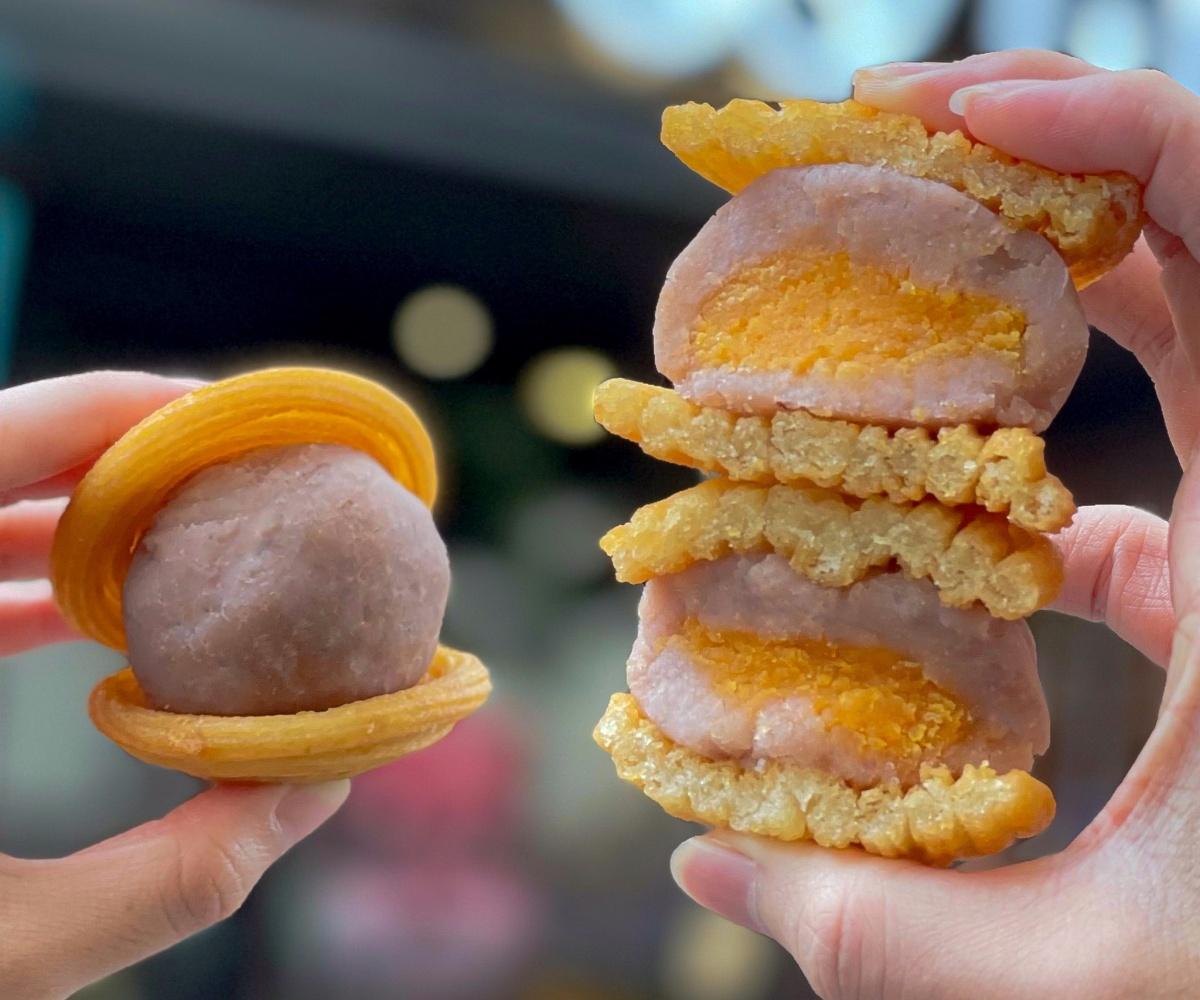 芋泥控暴動!Churros「吉那月餅」爆餡芋泥+鹹蛋黃太邪惡,限時1週開賣