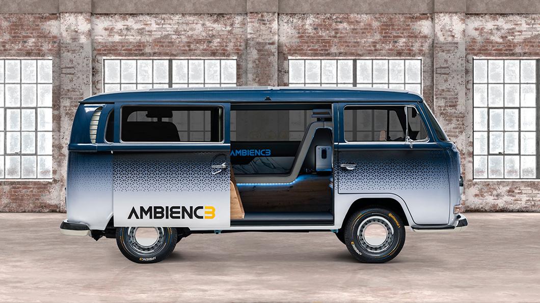 Continental以極富情感魅力的T2 Bus為複古與未來方向提供一個交匯點,也為自家科技產品搏版面。(圖片來源/ Continental) 福斯T2讓Lounge座艙經典回歸? 其實是Continental新科技搏版面