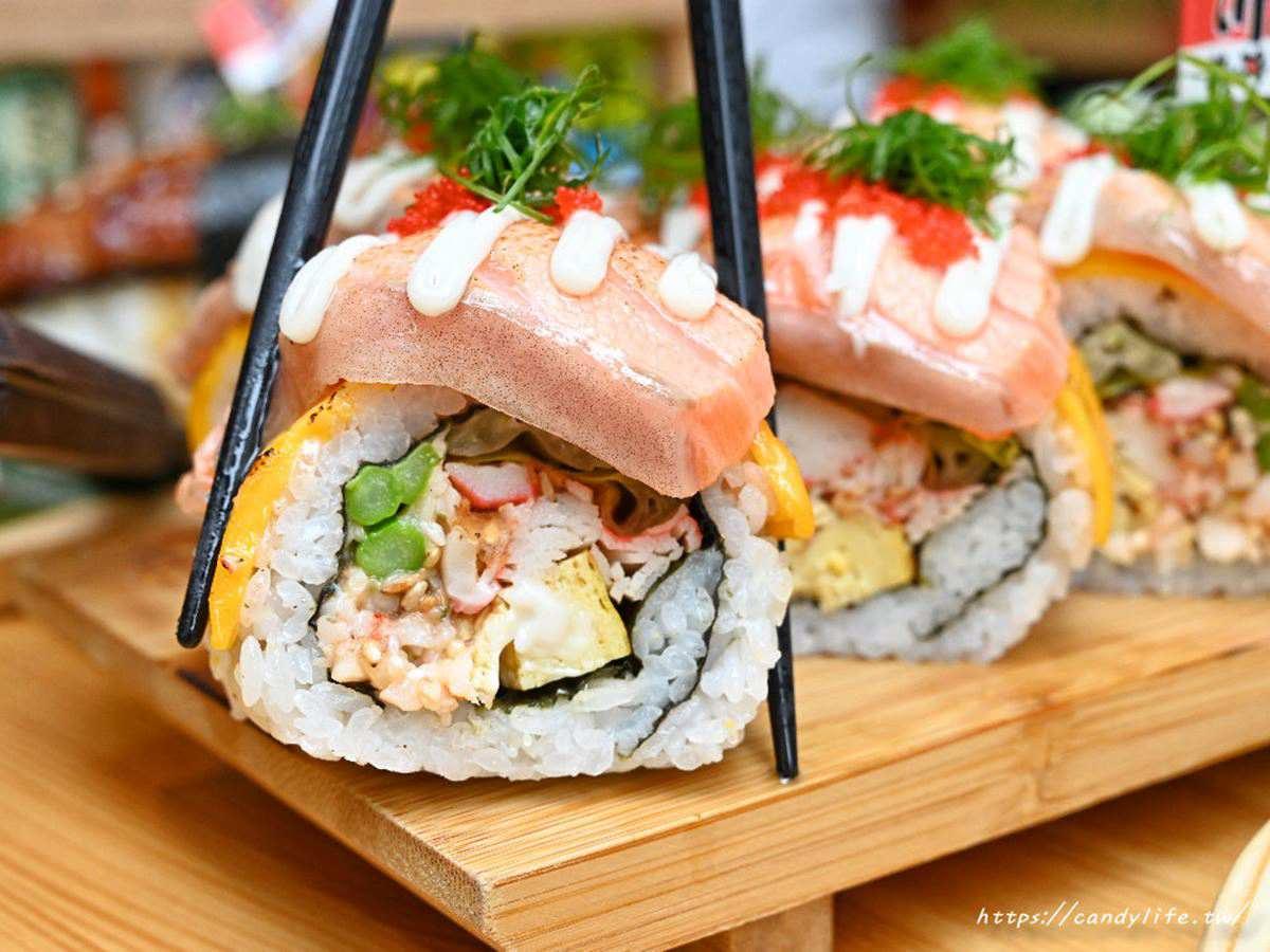 4.7星台中日料!巨無霸鰻魚壽司要用鏟子吃,厚切鮭魚起司捲軟嫩鮮甜
