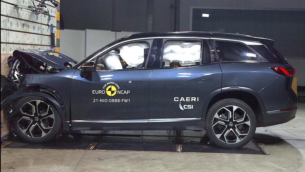Euro NCAP測試Nio ES8與Lynk&Co 01兩款中國大陸生產的電動車,皆拿下5顆星成績。(圖片來源/ NCAP) 陸製電動車蔚來與領克拿下Euro NCAP撞擊5星評價 誰還敢說MIC不安全?
