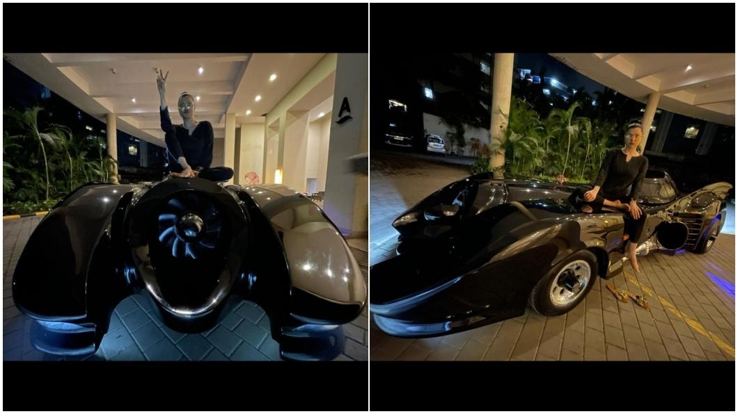 寶萊塢知名導演Ahmed Khan買一輛蝙蝠車送給老婆當作生日禮物。(圖片來源/ shairaahmedkhan) 連印度人也愛蝙蝠俠? 寶萊塢知名導演買一輛蝙蝠車送老婆