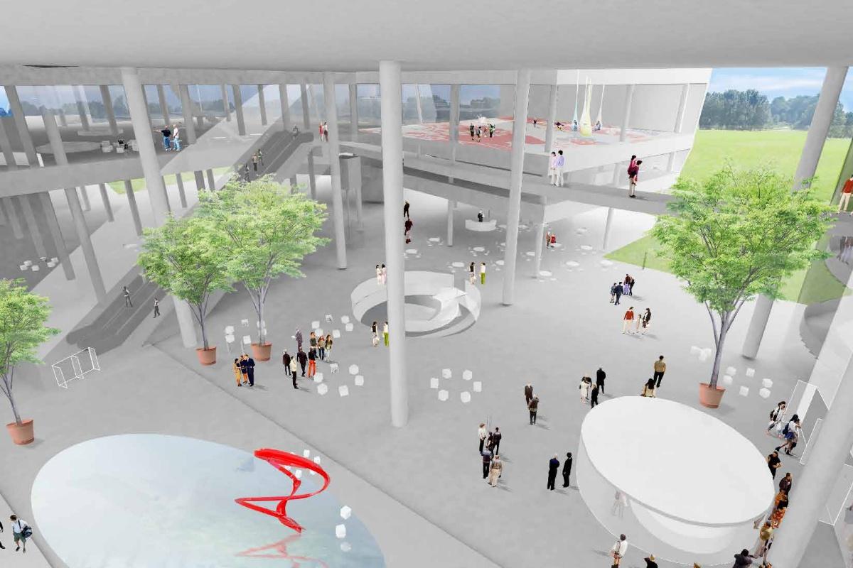 台中新景點再+1!「台中綠美圖」結合美術館與圖書館,純白玻璃建築太夢幻