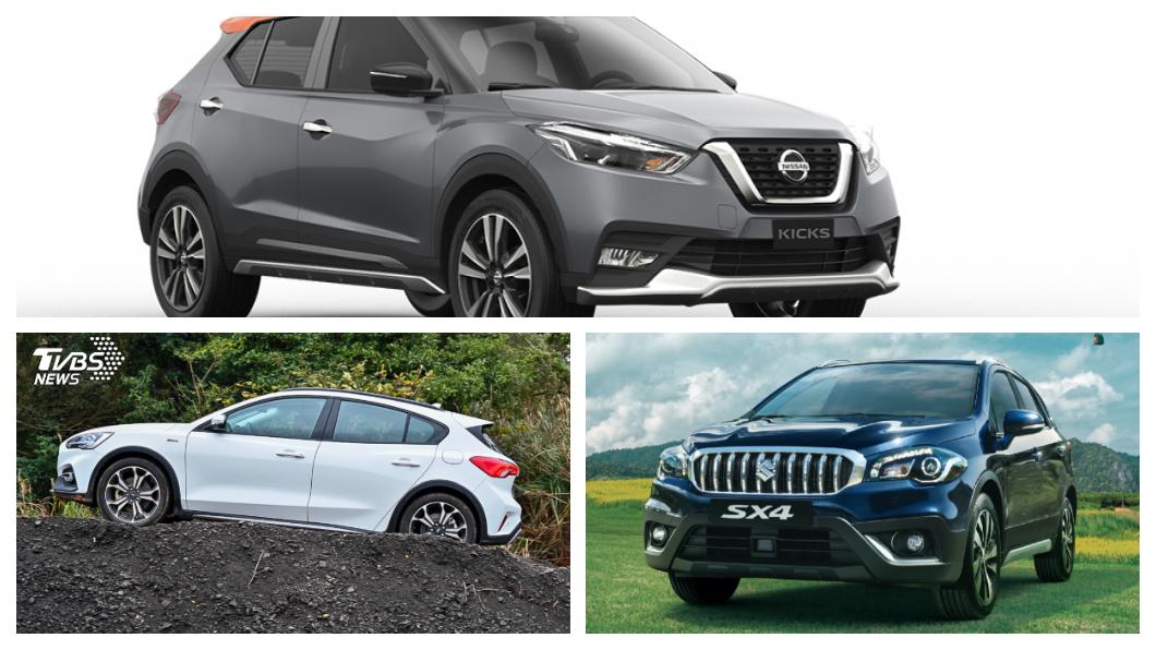 跨界休旅CUV是近年來相當熱門的車款。(圖片來源/ Ford、Nissan、Suzuki) 達人推薦高CP值CUV 達人曝光Kicks小改時間點
