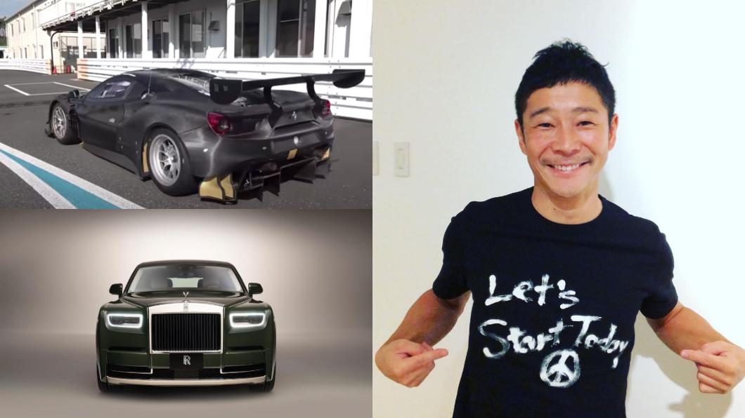 日本富豪前澤友作在YT頻道上分享新歡Ferrari 488 GT3 evo。(圖片來源/ 擷取自前澤友作 IG) 前澤友作秀新歡法拉利488 GT3 evo 日本超狂富豪上太空前先賽車