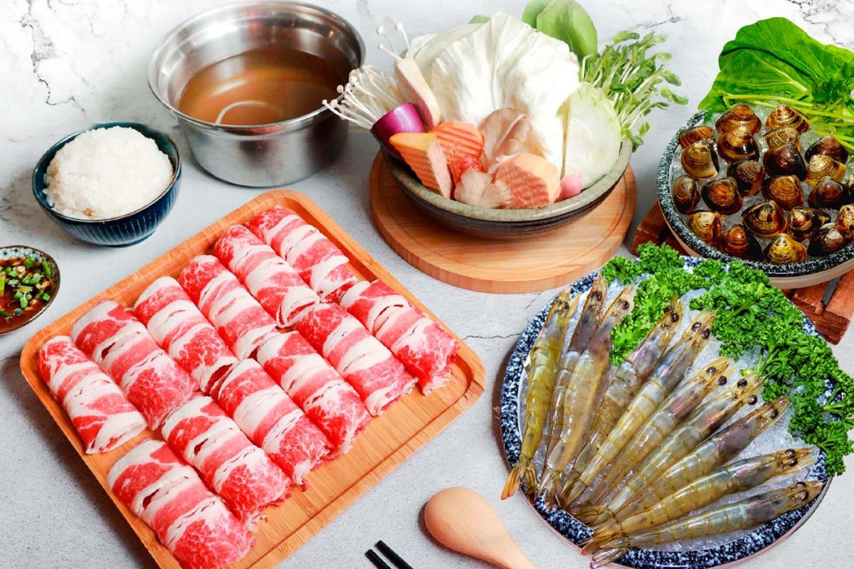 188元吃超飽!千葉火鍋「肉、海鮮爆量鍋物」300克牛肉、蝦+蛤蜊一次滿足