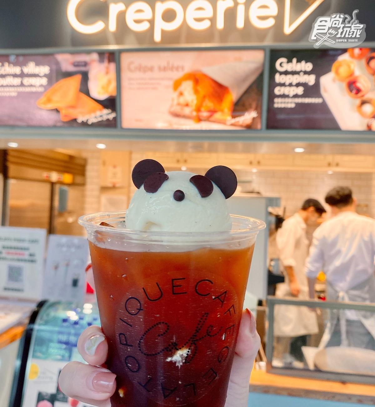 gelato pique cafe「熊貓可麗餅、漂浮黑咖啡」萌翻!熊貓玻璃杯可愛必收