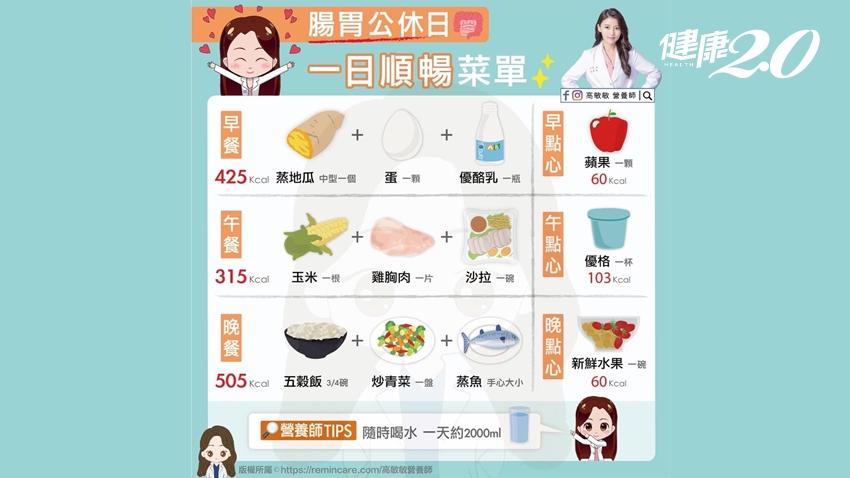 大餐後不想發胖的人必學!營養師分享「腸胃公休日」三餐清爽菜單
