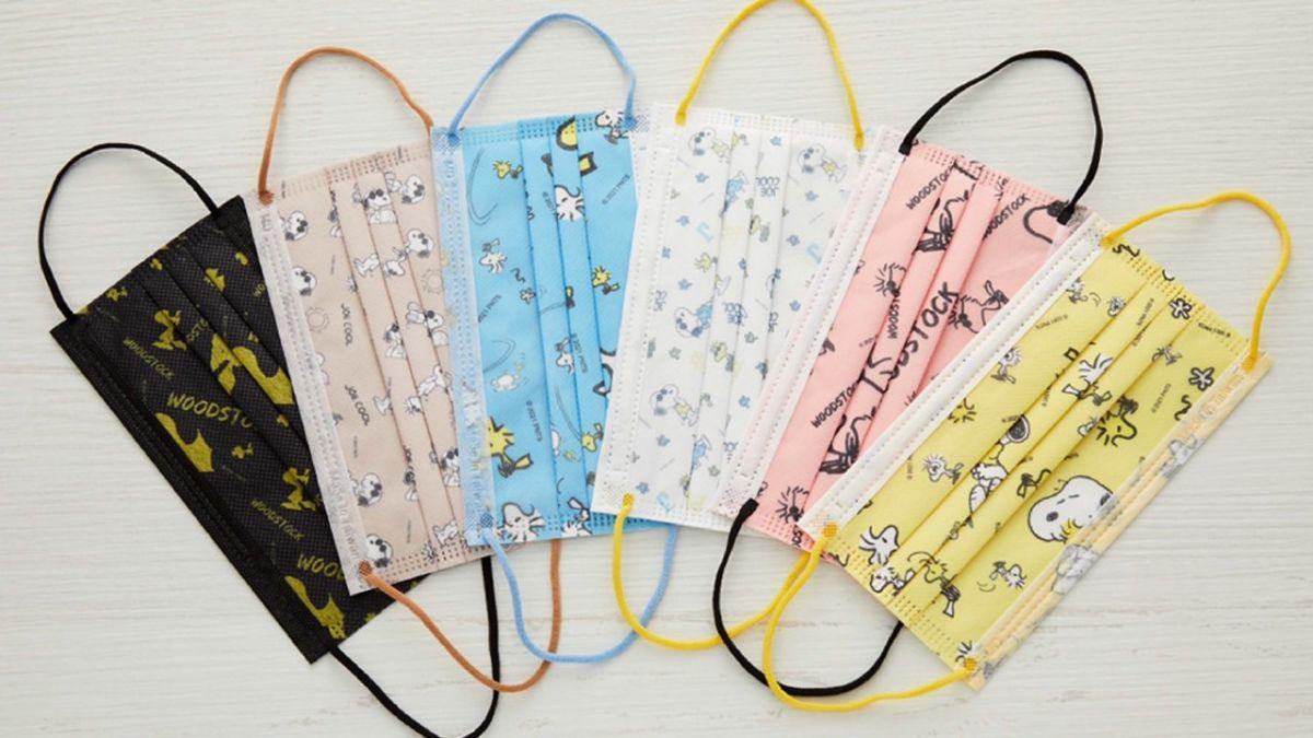 竟然有胡士托款!史努比最新6款成人口罩,每款限量1200盒必須收