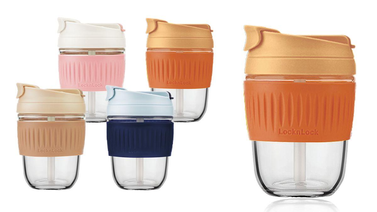 喝飲料拎這咖!樂扣樂扣推出「環保珍奶杯」,同步賣4款Pantone色玻璃隨行杯