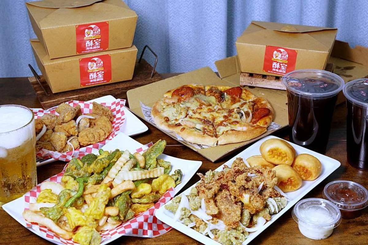 【新開店】超有哏!台中「綠色鹹酥雞」有滿滿九層塔香,銀絲捲必沾肉桂醬