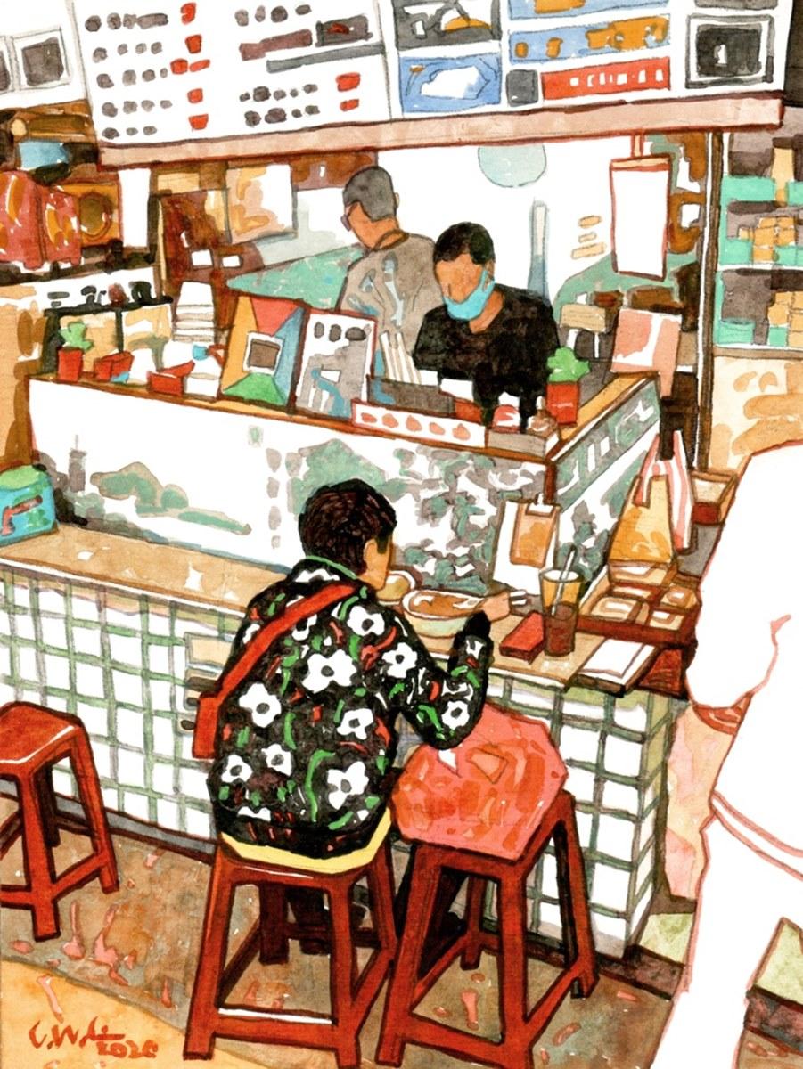 玩台南必逛百年菜市場!鴨母寮3家超有哏美食:巨無霸布丁、皮蛋涼麵