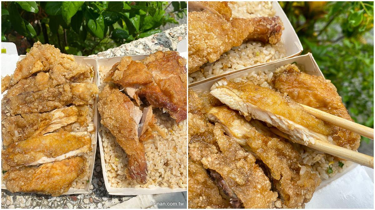 滿到蓋不起來!台南超浮誇炒飯鋪「整塊雞排」只要90元,還能免費加飯太佛心