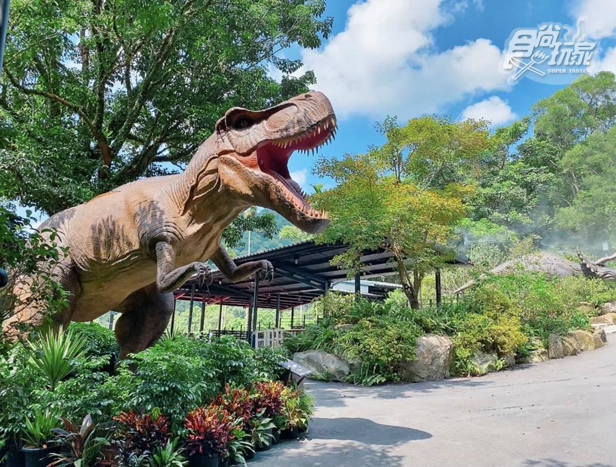 恐龍迷注意!溫泉飯店推「遠古生物展」,必拍7公尺金剛、霸王龍互動有叫聲