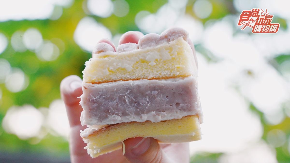 不加1滴水「純芋泥」生乳蛋糕!6大條芋泥排排站、每層2公分厚吃得到顆粒