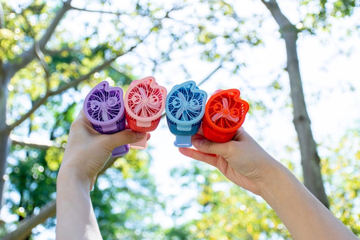 手搖控又一狂周邊!「CoCo手錶風扇」3節風速+多彩亮光全包,4色任挑加購有