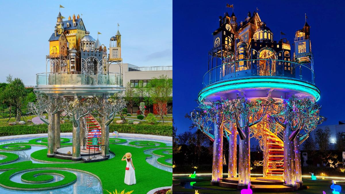 走進童話世界!宜蘭6000坪歐風「赫蒂法莊園」,空中城堡、生命之樹鏡池超好拍